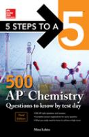 500 AP Chemistry Questions to Know by Test Day