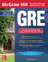 McGraw-Hill Education GRE 2022