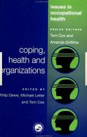 Coping, Health, and Organizations