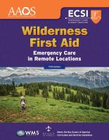 Wilderness First Aid