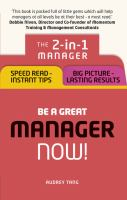 Be A Great Manager - Now!