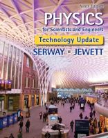 Physics For Scientists And Engineers (9th)