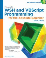 Microsoft® WSH and VBScript Programming for the Absolute Beginner