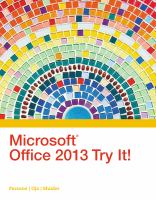 Microsoft Office 2013 Try It!