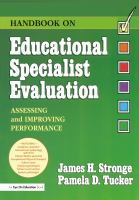 Handbook on Educational Specialist Evaluation