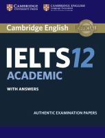 Cambridge English IELTS Academic With Answers. 12