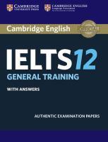 Cambridge English IELTS. 12