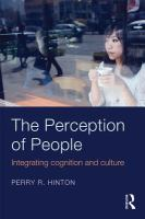 The perception of people : integrating cognition and culture