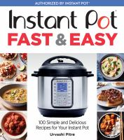Instant Pot Fast and Easy