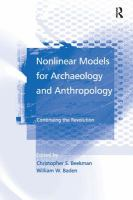 Nonlinear Models for Archaeology and Anthropology