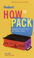 Fodor's How to Pack