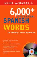 6,000+ Essential Spanish Words