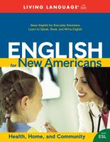 English for new Americans. Health, home and community
