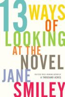 Thirteen Ways of Looking at the Novel