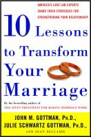 Ten Lessons To Transform Your Marriage