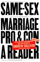 Same-sex Marriage, Pro and Con