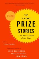 The O. Henry Awards Prize Stories, 2006