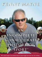 An Incomplete & Inaccurate History of Sport