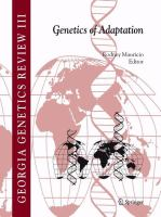 Genetics of Adaptation