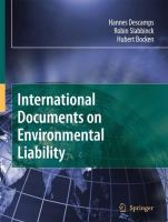 International Documents on Environmental Liability