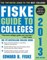 Fiske guide to colleges, 2013