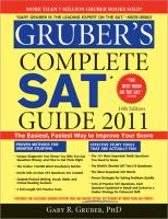 Gruber's Complete SAT Guide 2011