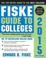 Fiske guide to colleges, 2015