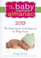 The Baby Names Almanac, 2013