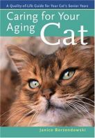 Caring for your Aging Cat