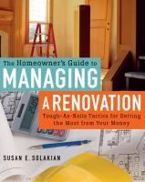 The Homeowner's Guide to Managing A Renovation