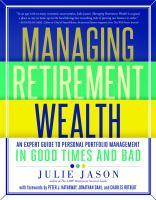 Managing Retirement Wealth