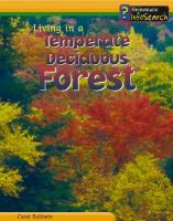 Living in A Temperate Deciduous Forest
