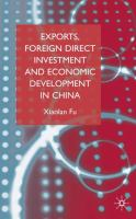 Exports, Foreign Direct Investment, and Economic Development in China