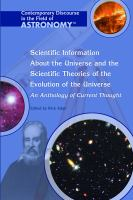 Scientific Information About the Universe and the Scientific Theories of the Evolution of the Universe
