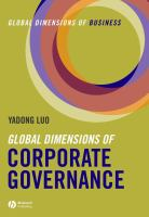 Global Dimensions of Corporate Governance