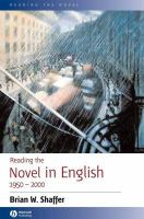 Reading The Novel In English, 1950-2000