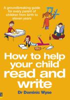 How to Help your Child Read and Write