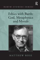 Ethics With Barth