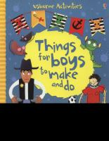 Things For Boys To Make And Do