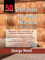 50 Plus One Great Books You Should Have Read (and Probably Didn't)