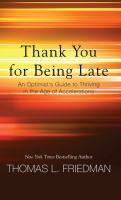 Thank You for Being Late
