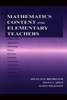 Mathematics Content for Elementary Teachers