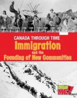 Immigration and the Founding of New Communities