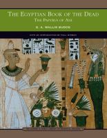 The Egyptian Book of the Dead (Barnes and Noble Library of Essential Reading)