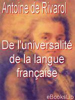 De l'universalité de la langue française