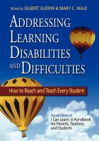 Addressing Learning Disabilities And Difficulties