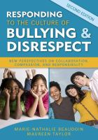 Responding to the Culture of Bullying & Disrespect