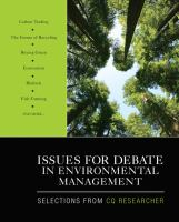 Issues for Debate in Environmental Management
