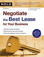 Negotiate the Best Lease for your Business, 2nd Edition