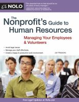 The Nonprofit's Guide to Human Resources